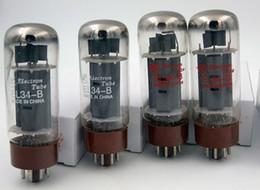Especiales al por mayor Nuevo Amplificador Headphon Accesorios Dawn EL34B Tubo de vacío 4PCS / LOTS sustitución 6p3p 5881 6550 Envío gratis Rusia en venta