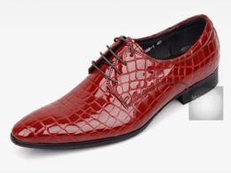 اليد التي قدمت ايطاليا نمط رجال الأعمال الأحذية الجلدية حقا جولة تو البني الداكن التمساح عارضة الملابس وحدة size38-44