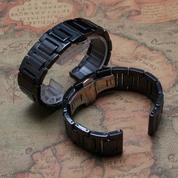 $enCountryForm.capitalKeyWord Australia - 20mm black ceramic watchband Fashion bright watch straps bracelet new arrival 2016 fit gear s2 men watches accessories new replacement cool