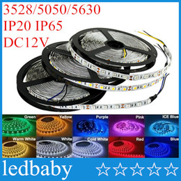 Rolls lights online shopping - High Birght M Led Strips Light Warm Pure White Red Green RGB Flexible M Roll Leds V outdoor Ribbon
