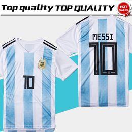 6f423e58660 2018 world cup Argentina Soccer Jersey 2018 Argentina Home soccer Shirt #10  MESSI #9 AGUERO #11 DI MARIA football uniform size S-3XL