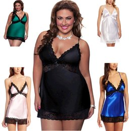 Barato Senhoras Sexy Que Vendem Lingerie-New Hot Good Selling Senhoras Mulheres Casual Fashion Night Plus Size Sexy Lingerie Lace Pijamas Pijamas 2389