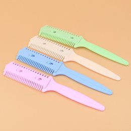 Thinning hair bangs online shopping - Thinning hair comb double sided knife sliced barber shaved his head is a knife to thin hair bangs thinning is cut short