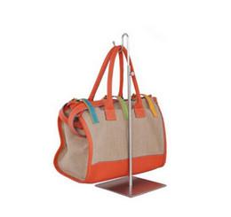 Bag stand display rack online shopping - Adjustable Metal Brushed Silver Handbag Stand Display Women Bag Display Holder wig holder display stand bag holder rack
