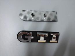 Style de la voiture 3D GTI Logo emblèmes de voiture pour insignes de voiture en plastique ABS Volkswagen ABS avec grille
