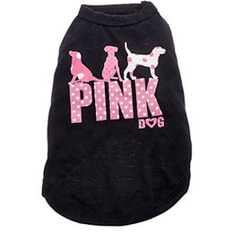 Chinese  New Pink Dog Dog Apparel Fashion Cute Dog Vest Pet sweater Puppy Shirt Soft Coat Jacket Summer Dog Cat Clothes manufacturers