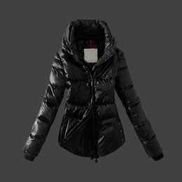 Barato Casacos De Inverno Para Senhoras Parkas-Inverno Down Coat Branco Duck Down Duplo Long Sleeve Zipper Warm Outerwear Ladies Down Parka Plus Size