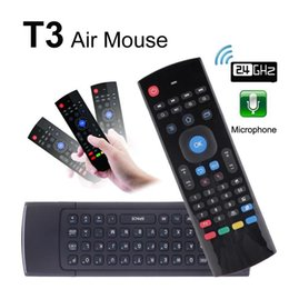 Gyroscope fly air mouse android online shopping - T3 With Microphone Mini G Wireless Gyroscope Keyboard T3 M Mic Fly Air Mouse Remote Control G Sensor IR Learning For S905X Android TV BOX