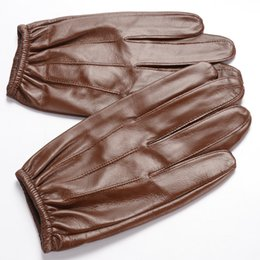 leather gloves for men Australia - Men's Lambskin Touchscreen Leather Gloves Thin Police Search Duty Gloves Fashion Driving Gloves for Spring Autumn