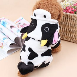 $enCountryForm.capitalKeyWord Canada - 2018 New Pet Cow Fleece Costume Fall And Winter Hoodie For Pet Puppy Dog Free Shipping