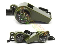 $enCountryForm.capitalKeyWord Canada - Outdoor Need 3 in1 Camping Hiking Emergency Survival Gear Whistle Compass Thermometer ArmyGreen Color with rope