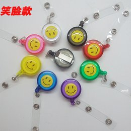 cute clay figures 2019 - Korea cute nurse badges easy to pull retractable buckle buckle labels badges Badge Holder lanyard work card easy to pull