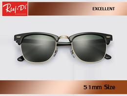 6547545f0d Usine en gros top qualité 51mm demi-cadre concepteur club lunettes de  soleil Femmes Hommes maître rlei di UV400 protecton miroir lunettes de  soleil gafas