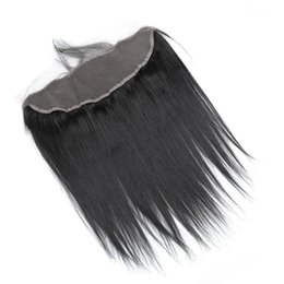 Brazilian Hair Frontal Piece UK - Lace Frontal Closure Piece Virgin Human Hair Straight 13x4 full lace Frontal With Baby Hair Brazilian Indian Hair extensions