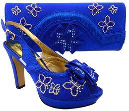 $enCountryForm.capitalKeyWord NZ - Most popular royal blue african shoes match bag set with rhinestones lady bowtie shoes and handbag MM1031,heel 11.5CM