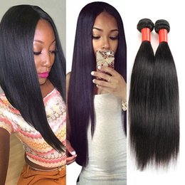Best Unprocessed Human Hair Extensions Canada - Cheap Human Hair Extensions Silky Straight Hair Weave Peruvian Hair Unprocessed Black 1B Dyeable 7A Best Quality Hair Bundles 3 4Pcs Lot
