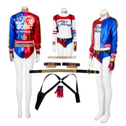 $enCountryForm.capitalKeyWord Canada - Joker Suicide Squad Harley Quinn Cosplay Costume High Quality Full Set Any Size For Unisex Halloween Party Clothing