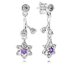 pandora new earrings Canada - 2016 NEW 100% Authentic 925 sterling silver earrings Forget Me Not Drop Earrings fit for pandora charms jewelry DIY 1pair  lot wholesale