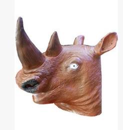 $enCountryForm.capitalKeyWord UK - Halloween Mask rhinoceros head animal head natural green latex Unicorn mask