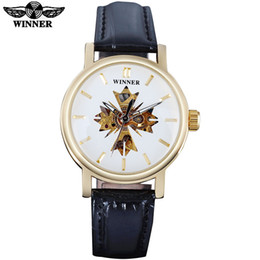 $enCountryForm.capitalKeyWord Australia - WINNER Brand Luxury Men Classic Automatic Mechanical Watch Male Self-Winding Skeleton Black Leather Golden Case Wrist Watch SLZb01
