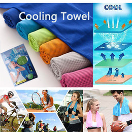 $enCountryForm.capitalKeyWord Canada - 30*90cm Cooling Towel Sweat Summer Fashion Creative Sport Ice Towel Ice Cool Towel High Quality Bamboo Fiber Hypothermia Cold Towels