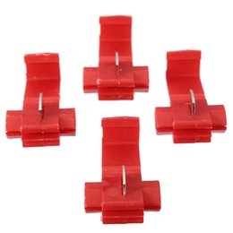 quick lock connector 2018 - Wholesale-New 20pcs Red Scotch Lock Quick Splice 16-22awg Wire Connectors Terminals Crimp Electrical Excellent Quality c