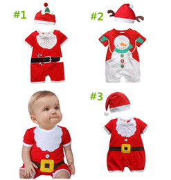 $enCountryForm.capitalKeyWord Canada - baby newborn jumpsuit hat kids girls boys rompers whieolsale Christmas set little santa bodysuit outfit clothes XMAS snowman fake beard suit