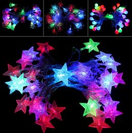 $enCountryForm.capitalKeyWord Canada - 450cm Holiday Led lighting waterproof colorful lighting strings bells Snowflake shape lights party festive Christmas Decorative Lights gift