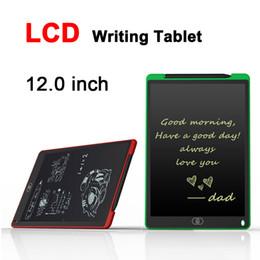 Venta al por mayor de 12.0 pulgadas LCD Tableta de escritura Tablero de dibujo Pizarra Cojines de escritura a mano Regalo para niños Bloc de notas Sin notas Bloc de notas Memo Con pluma actualizada