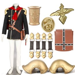 Barato Traje Cosplay-Conjunto completo Final Fantasy Type-0 Ace Cosplay Costume Zero Alta Qualidade Custom Made HandmadeF ou Halloween Unisex