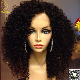 Kinky Curly Human Hair Afro Wigs Australia - Peruvian Lace Front Glueless Human Hair Wigs Afro Kinky Curly Full Lace Human Hair Wigs With Baby Hair
