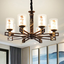 Black chinese lanterns online shopping - Chinese style led chandelier lights lantern bamboo design Chinoiserie personalized classic decorative led chandeliers lighting pendant lamps