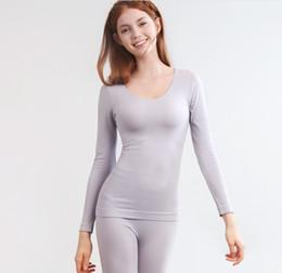 Ingrosso New Thermal Underwear Sets Donna a nido d'ape rigenera ad alta densità termica Tute termiche Abbigliamento esterno Top Johns, fondo