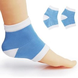 Moisturising Socks Canada - Footful Moisturising Gel Heel Socks Cracked Dry Skin Protector New Design