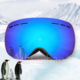 photochromic ski goggles UK - Moq=1pcs TOP Quality Skiing Motorcycle Goggle Outdoor Sports Sunglasses Windproof Antifog Rimless Snow Glasses 5 Colors Free Shipping