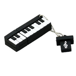 Discount music usb stick - Pinao PenDrives Silicone Music instrument USB 2.0 Flash Drive Memory Stick Pen Thumb Drive 100% Real 8GB 16GB 2GB 4GB Op