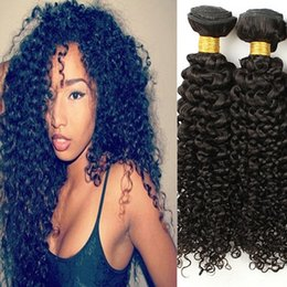kinky curly weaving hair Canada - Brazilian Virgin Hair Kinky Curly Extensions Weaves 7A Grade 4Pcs Unprocessed Peruvian Indian Malaysian Human Hair Bundles free shipping
