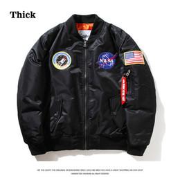 $enCountryForm.capitalKeyWord NZ - Thick NASA MA1 Bomber Jacket Flight Windbreaker USA Air Force Embroidery Pilot Jacket Kanye West Hip Hop Jacket Bomber Coat S-2XL HFJK001