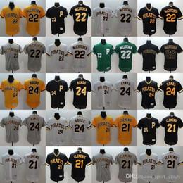 mlb pittsburgh pirates jerseys flexbase baseball jerseys mccutchen22 bonds24 clemente21 blank orange black white grey 1pcs mens