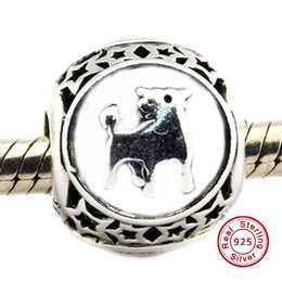 $enCountryForm.capitalKeyWord Canada - 2016 Taurus Star Sign Charm 100% 925 Sterling Silver Beads Fit Pandora Charms Bracelet Authentic DIY Fashion Jewelry