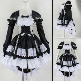 $enCountryForm.capitalKeyWord Canada - Hot Sale Anime Fantasy Maid Cosplay Costume Lolita Dress Halloween Performance Costume For Women Disfraces