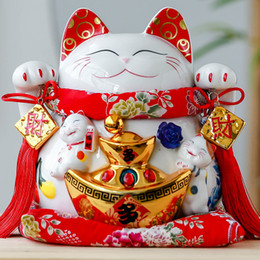$enCountryForm.capitalKeyWord Canada - Lucky Cat Japanese cat ornaments large electric hand Ceramic Piggy piggy bank gift shop opened in Japan