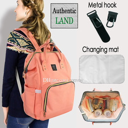 Wholesale 2018 Land colors Mommy Backpacks Nappies Bags Mother Maternity Diaper Backpack Large Volume Outdoor Travel Bags Organizer Free DHL MPB01