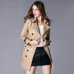 $enCountryForm.capitalKeyWord Canada - European station high-end name brand classic double breasted lapel long coat windbreaker jacket dress temperament women dress