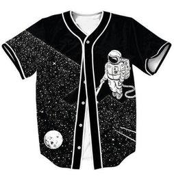 Wholesale astro shirt resale online - Astro Clean Jersey Stars Black D Printed Shirt Women Men Hip Hop V Neck Short Sleeve Tops Outfits