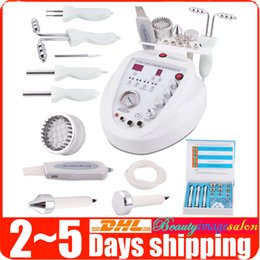Machine À Microdermabrasion Au Diamant 5in1 Pas Cher-5in1 Diamond Microdermabrasion Dermabrasion Led Photon Skin Scrubber BIO Micro-courant Facial Care Anti-âge Lifting Beauty Machine Spa