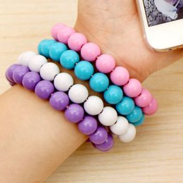 high speed usb charger 2019 - 2017 USB Cable 24cm fashion portable Wearable Bracelet Charger Bead Sync Data Extra Charging Colorful High Speed For Sam