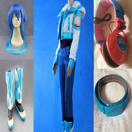 Barato Assassinato Dramático Aoba-Assassinato dramático original do anime japonês DMMD Seragaki Aoba Cosplay Costume + Belt Cartoon Characters Halloween Chrismas Whole Set