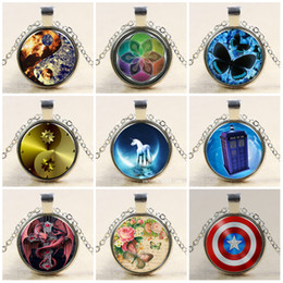 $enCountryForm.capitalKeyWord NZ - Necklace Pendants Doctor Who necklace Round Glass Necklace Doctor Who Time Lord Seal Pendant Time Lord Gallifreyan Glass Cabochon Necklaces