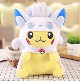 kid video cartoon 2019 - 30Cm Pikachu Ice And Fire Coat Plush Toys For Children Gift Soft Toy Kawaii Cute Cartoon Toys Pocket Monster Anime Xmas